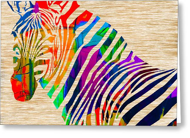Zebras Greeting Cards - Cool Zebra Greeting Card by Marvin Blaine