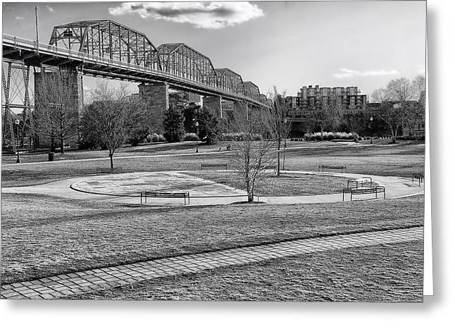 Coolidge Park Greeting Cards - Coolidge Park In Chattanooga Greeting Card by Mountain Dreams