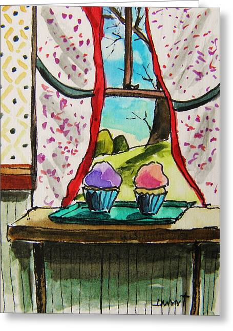 Aceo Original Drawings Greeting Cards - Cooling Greeting Card by John  Williams