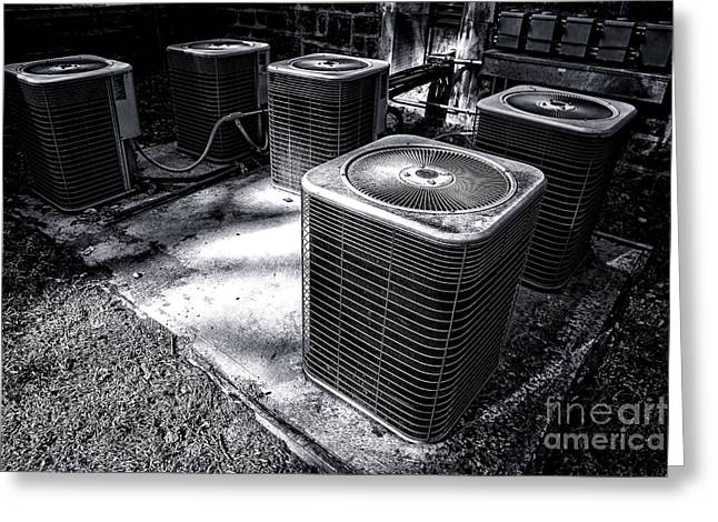 Air Conditioner Greeting Cards - Cooling Power Greeting Card by Olivier Le Queinec