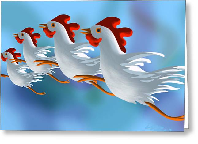 Barnyard Digital Art Greeting Cards - Coop Troupe  Greeting Card by Tom Dickson
