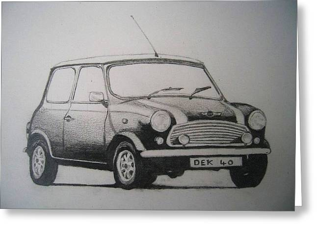 Mini Drawings Greeting Cards - Cooper Greeting Card by Graham Wood