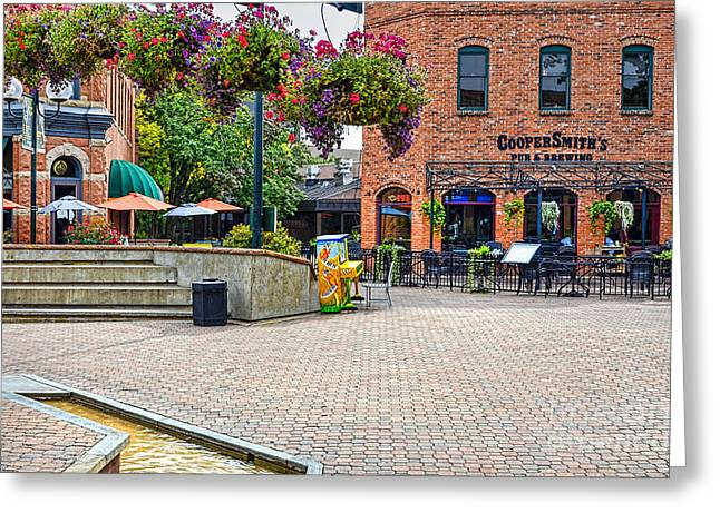 Fort Collins Greeting Cards - Cooper Smiths Pub Greeting Card by Keith Ducker