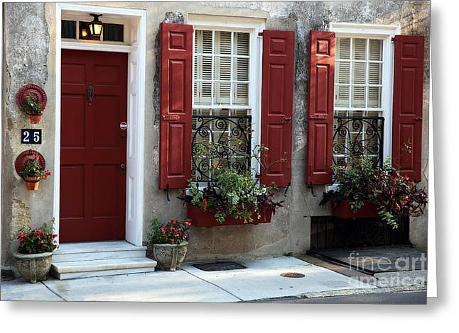 French Quarter Home Greeting Cards - Coordinated in Charleston Greeting Card by John Rizzuto