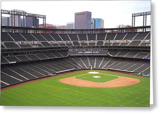 Turf Greeting Cards - Coors Field Denver Co Greeting Card by Panoramic Images