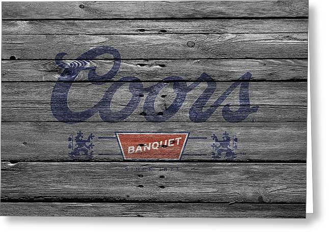 Saloons Greeting Cards - Coors Greeting Card by Joe Hamilton
