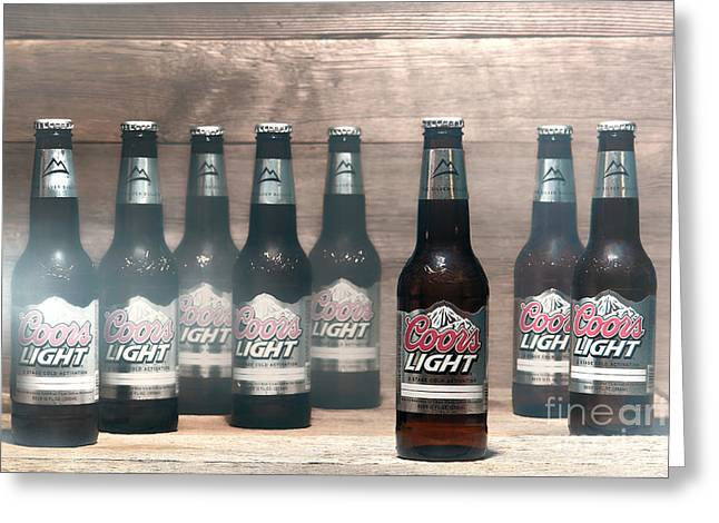 Smoky Greeting Cards - Coors Light Greeting Card by Olivier Le Queinec