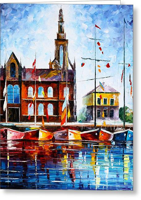 Copenhagen Denmark 3 Greeting Card by Leonid Afremov