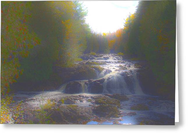 Copper Falls Greeting Card by Jim Baker