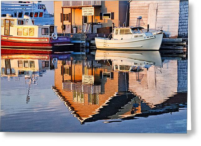 Michigan Pyrography Greeting Cards - Copper Harbor Reflections Greeting Card by Winnie Chrzanowski