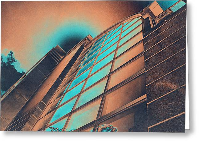 Coppery Greeting Cards - Copper High Rise Greeting Card by Shawna  Rowe