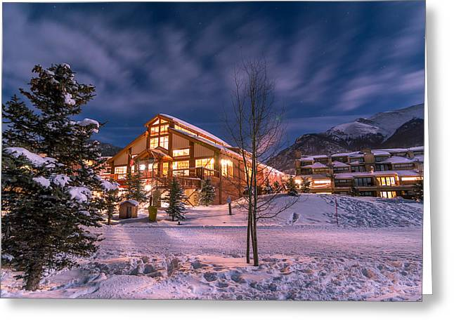 Colorado Prints Greeting Cards - Copper Mountain East Village Greeting Card by Michael J Bauer