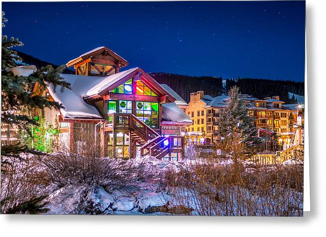 Woods Greeting Cards - Copper Mountain Pub Greeting Card by Michael J Bauer