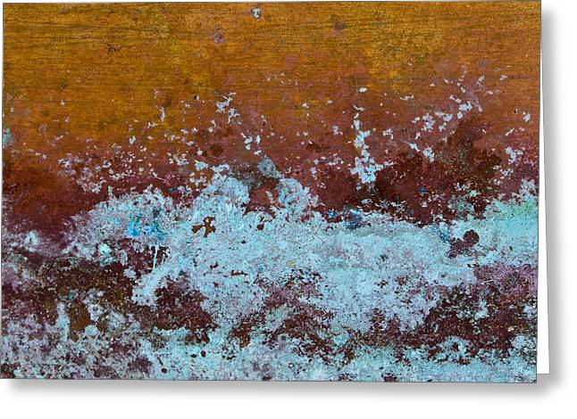 Copper Colored Greeting Cards - Copper Patina Greeting Card by Carol Leigh