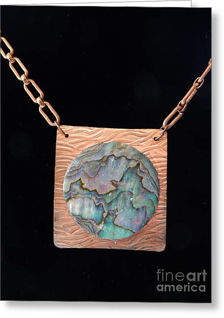 Mother Jewelry Greeting Cards - Copper Pearl Greeting Card by Patricia  Tierney