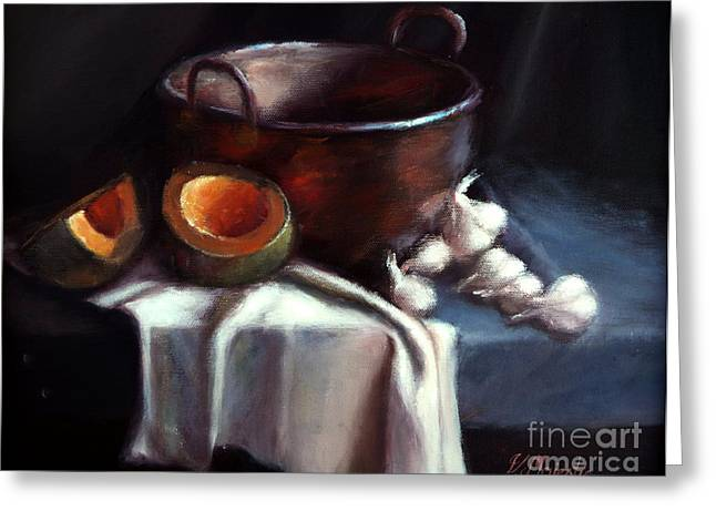 Copper Pot And Cantalpes Greeting Card by Viktoria K Majestic