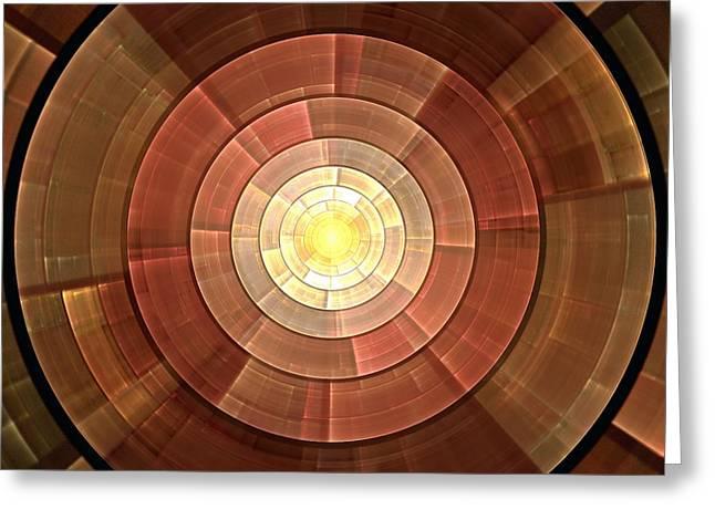 Copper Shield Greeting Card by Anastasiya Malakhova