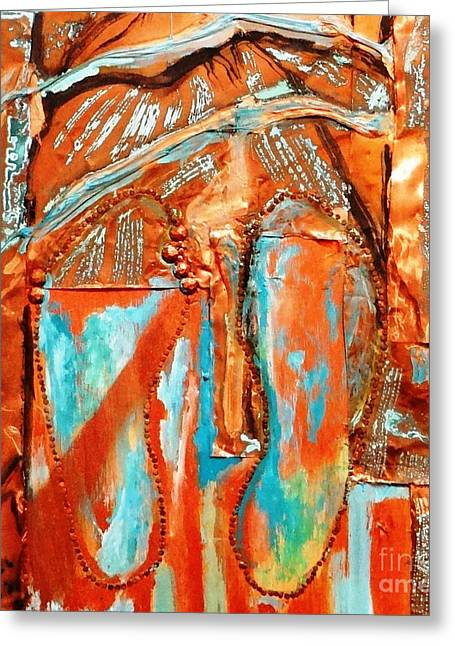 Bright Sculptures Greeting Cards - Broken In Shoes Greeting Card by Ecinja Art Works