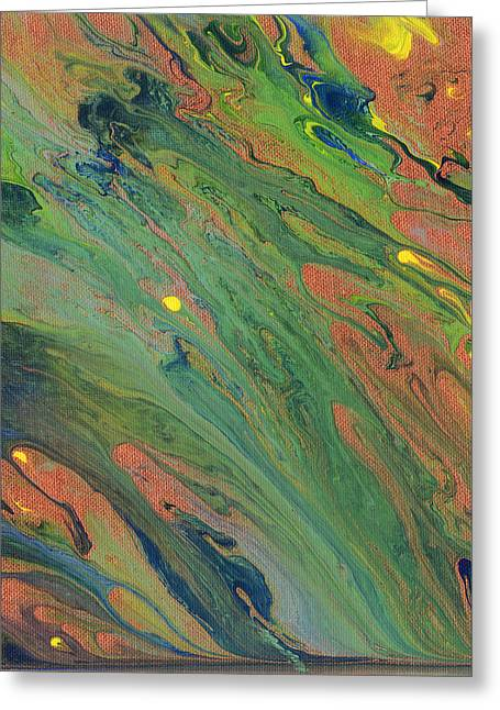 Morphing Greeting Cards - Copper Stream Greeting Card by Maxwell Hanson