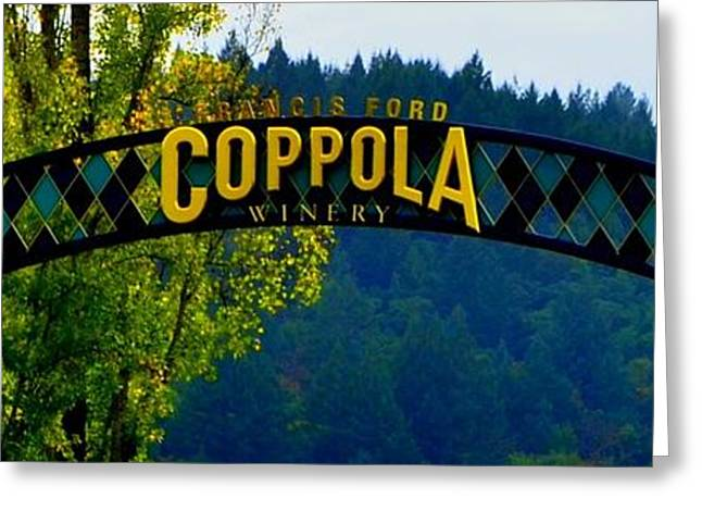 Asti Greeting Cards - Coppola Winery Two Greeting Card by Antonia Citrino