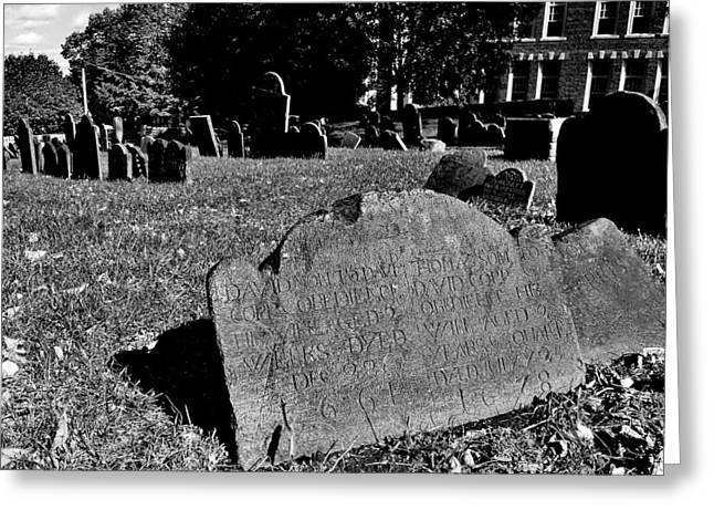 Gravesite Greeting Cards - Copps Hill Burying Ground Greeting Card by Benjamin Yeager