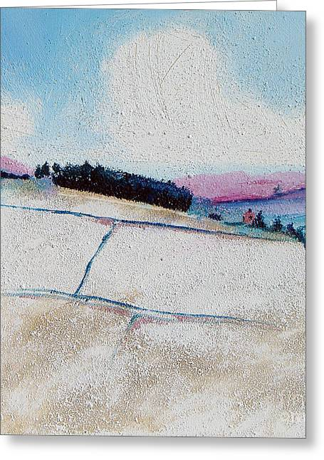 Hills Greeting Cards - Copse in Snow Greeting Card by Neil McBride
