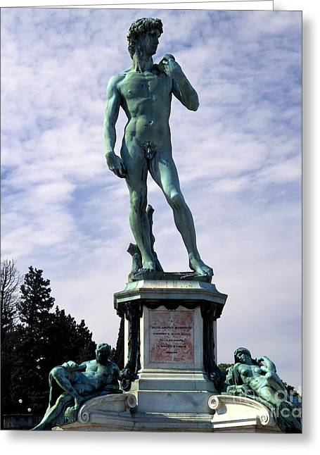 Michelangelo Greeting Cards - Copy Of David By Michelangelo Greeting Card by Rafael Macia