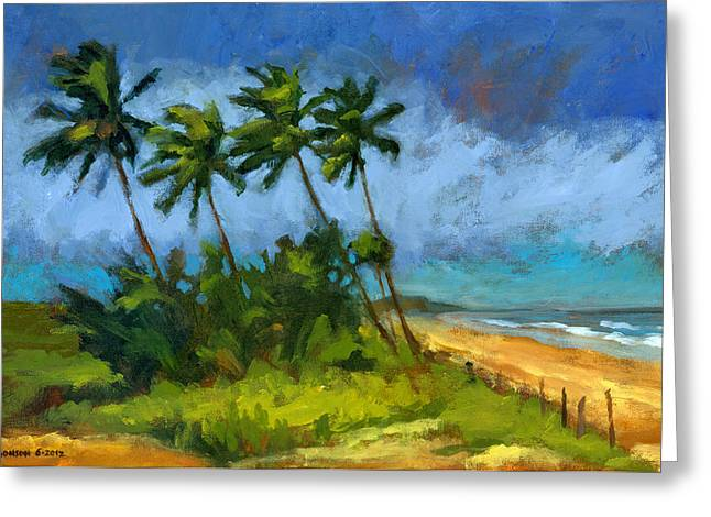 Tropical Trees Greeting Cards - Coqueiros de Massarandupio Greeting Card by Douglas Simonson