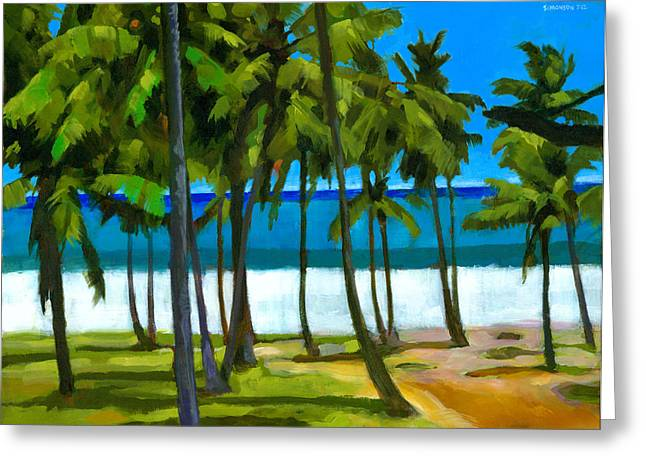 Coconut Palm Tree Greeting Cards - Coqueiros de Tiririca Greeting Card by Douglas Simonson