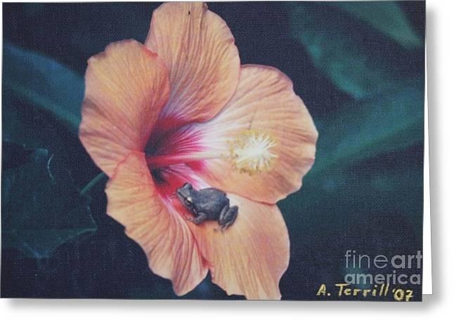 Humorous Greeting Cards Mixed Media Greeting Cards - Coqui  Greeting Card by The Art of Alice Terrill