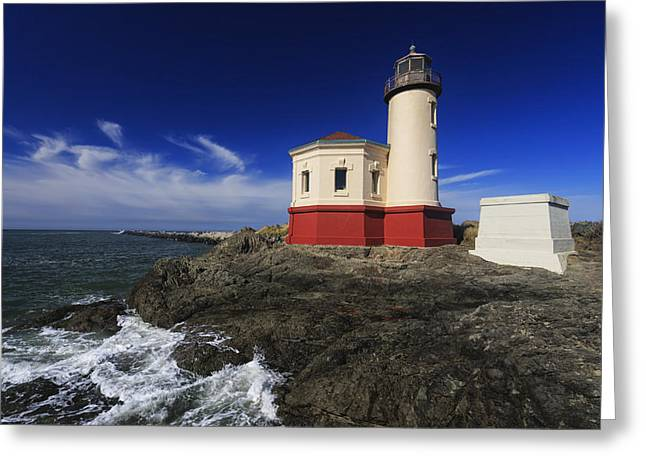 Oregon State Parks Greeting Cards - Coquille River Lighthouse 3 Greeting Card by Mark Kiver