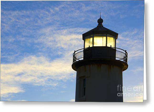 Lighthouse By The Sea Greeting Cards - Ghost Light Coquille River Lighthouse Oregon 3 Greeting Card by Bob Christopher