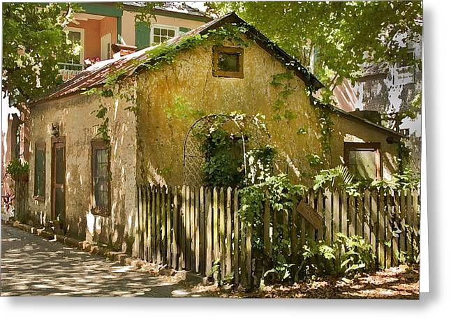 Florida House Greeting Cards - Coquina House Greeting Card by Rich Franco