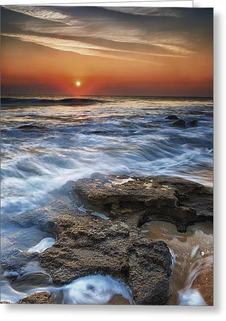 Coquina Sunrise II Greeting Card by Mike Lang