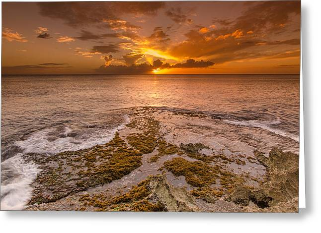 Koolina Greeting Cards - Coral Island sunset Greeting Card by Tin Lung Chao