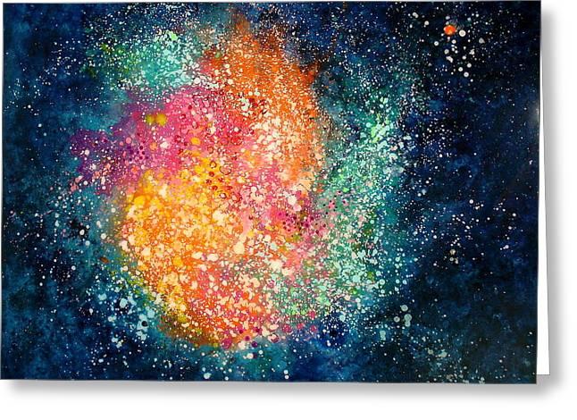 Coral Nebula Greeting Card by Freddie Lieberman