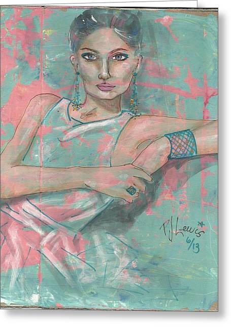 Exotic Women Greeting Cards - Coral Greeting Card by P J Lewis