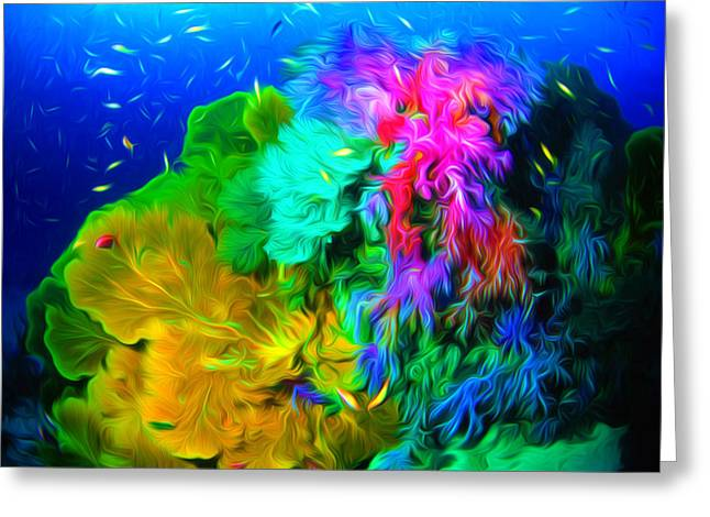 Environment Greeting Cards - Coral reef 1 Greeting Card by Lanjee Chee