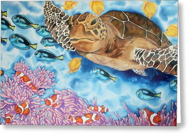 Tang Tapestries - Textiles Greeting Cards - Coral reef Greeting Card by Iveta Burenkovaite