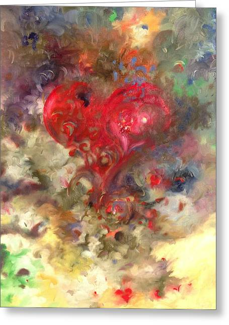 Corazon Greeting Card by Julio Lopez