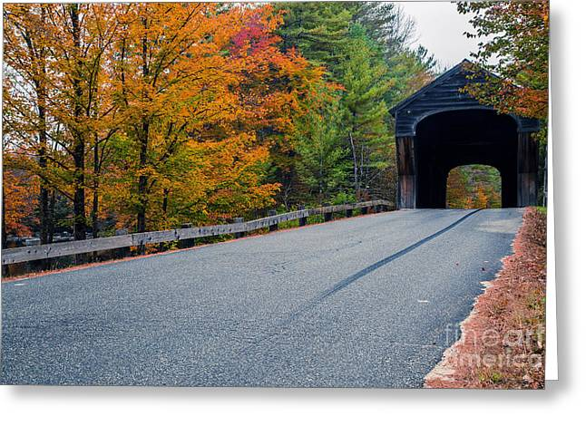 New Hampshire Greeting Cards - Corbin Covered Bridge Vermont Greeting Card by Edward Fielding