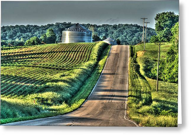 Corduroys Greeting Cards - Corduroy Corn and Seersucker Silos Greeting Card by William Fields
