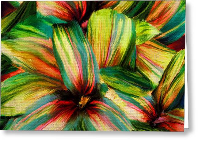 Violet Art Greeting Cards - Cordyline Greeting Card by Lourry Legarde