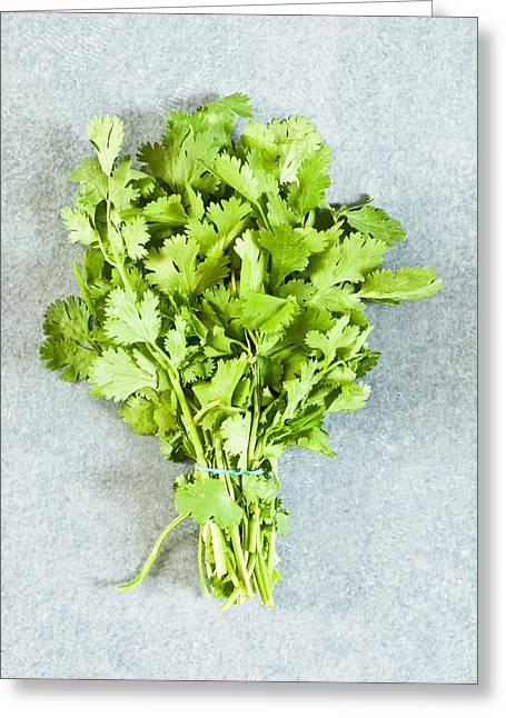 Edible Greeting Cards - Coriander Greeting Card by Tom Gowanlock