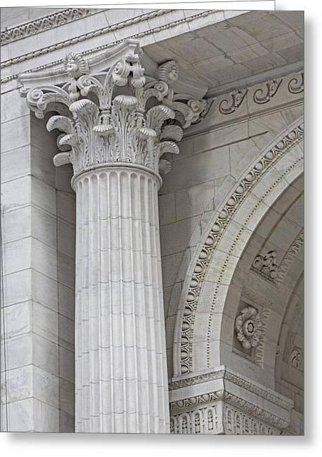 Corinthian Column Detail Greeting Card by Susan Candelario
