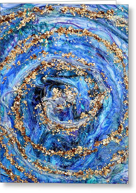 Weathered Reliefs Greeting Cards - Coriolis 4 Greeting Card by Regina Valluzzi