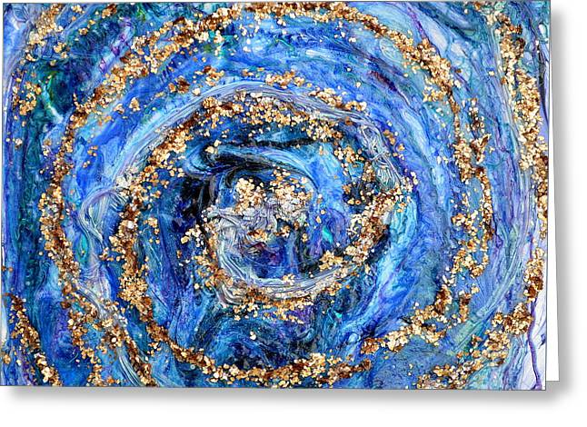Spiral Reliefs Greeting Cards - Coriolis 4 Greeting Card by Regina Valluzzi
