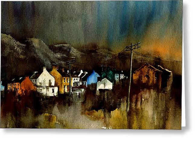 Val Byrne Greeting Cards - Cork 2 Allihies Village Beara Cork Greeting Card by Val Byrne