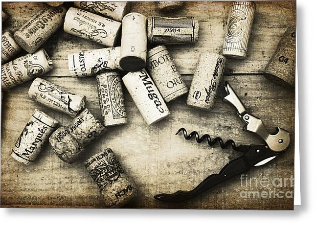 Corked Greeting Card by Clare Bevan