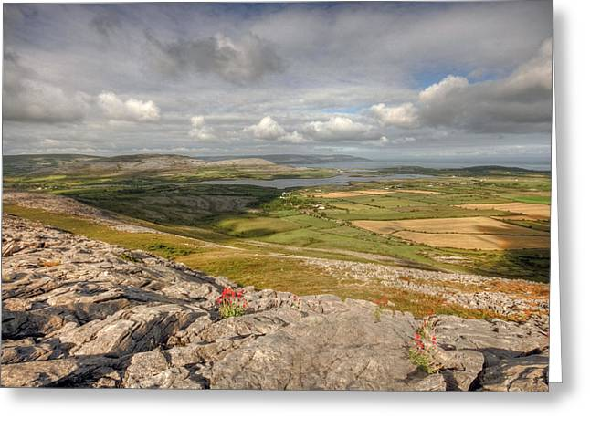 Galway Bay Greeting Cards - Corker Hill View Greeting Card by John Quinn